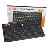 MINI TASTIERA MULTIMEDIALE LINQ K-2 USB NERA