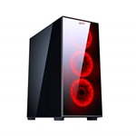 CASE GAMING ATX PER PC CTESPORTS LINX USB 3.0 NERO PENNELLO ANTERIORE E LATERALE IN VETRO (VENTOLE NON INCLUSE)