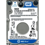 HARD DISK INTERNO 2,5 500GB WESTERN DIGITAL BLUE WD5000LPCX 5400RPM 16MB SATA3 PER NOTEBOOK