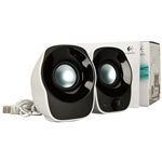 CASSE AUDIO 2.0 LOGITECH Z120 1,2WATT PER PC NOTEBOOK ALIMENTATE USB NERO BIANCO 980-000513