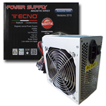 ALIMENTATORE PER PC ATX TECNO 550W 3XSATA BIG FAN 12CM TASTO ON/OFF SILENT