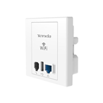 ACCESS POINT DA MURO WALL PLATE TENDA W312A WIFI USB LAN + PRESA TELEFONO