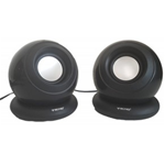 CASSE AUDIO SPEAKER 2.0 TECNO TC-SP33 5WATT PER PC NOTEBOOK ALIMENTATE USB NERE