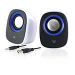 CASSE AUDIO SPEAKER 2.0 EWENT EW3513 5WATT PER PC NOTEBOOK ALIMENTATE USB