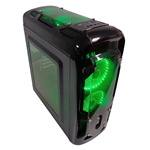 CASE GAMING CORTEK GRAVITY GRAVIN NERO USB 3.0 VENTOLE VERDE NO PSU