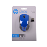 MOUSE OTTICO WIRELESS HP X3000 BLUE N4G63AA#ABB